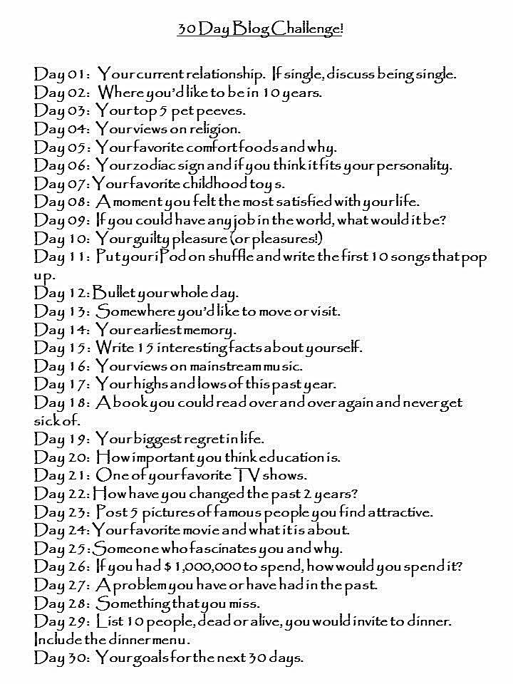 30-Day Challenge Blog
